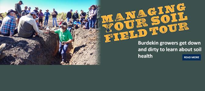 Managing your soil field tour nq dry tropics for Soil tour dates 2015