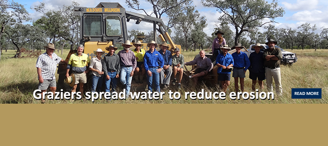 Graziers spread water to reduce erosion