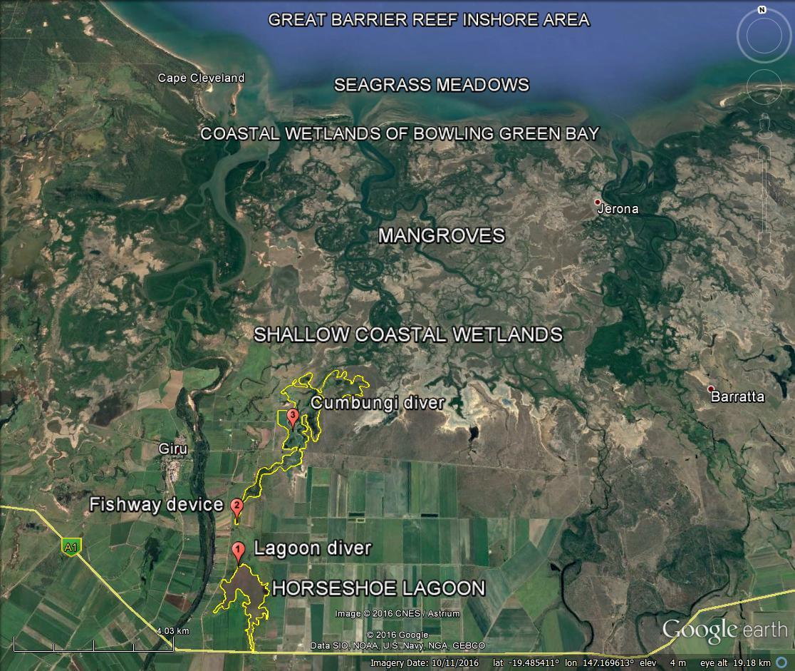 LANDSCAPE RESILIENCE NQ Dry Tropics - Coastal wetlands map us
