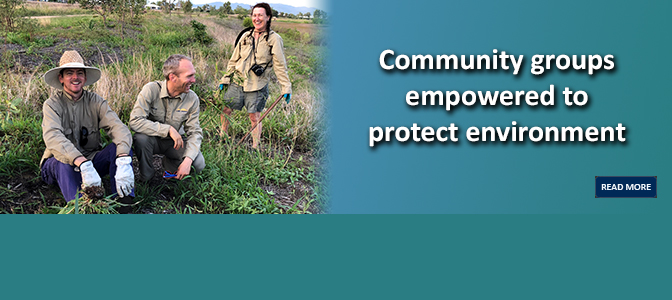 Community groups empowered to protect environment