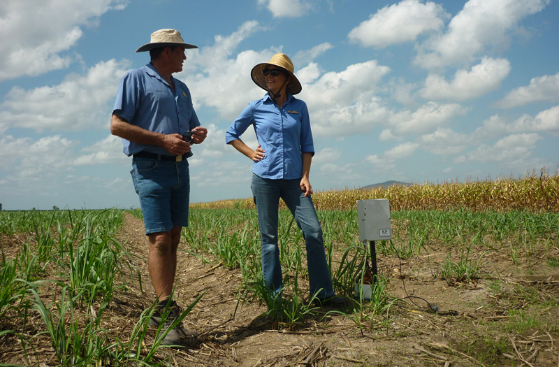 BBIFMAC field officer Dennis Stubbs and NQ Dry Tropics project officer Lisa Pulman with a KP Sampler