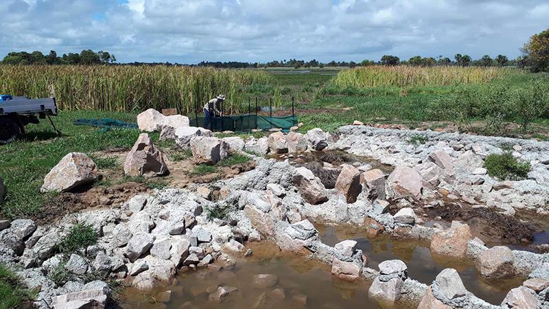 Fish trap in Lower Burdekin