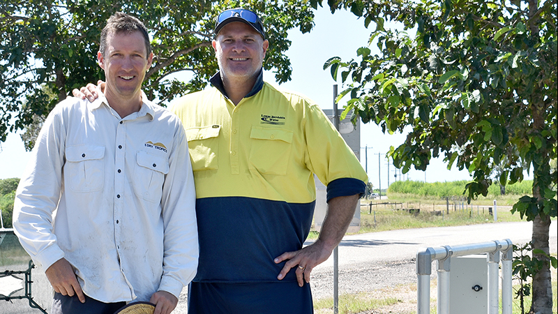 Scott Fry (NQDT Project Officer), Peter Piotto (Lower Burdekin Water)