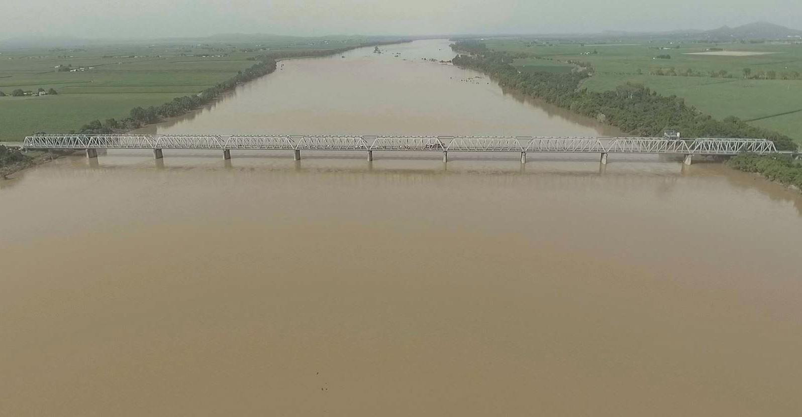 Burdekin River in flood Feb 2019
