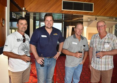 Pictured are (from left): Anthony Contzonis, NQ Dry Tropics Sugar Team Leader Luke Malan, Bob Cambruzzi and Mark Rossato.