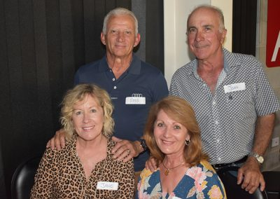 Ross and Jane Gambino (left) with friends John and Livia Quagliata at the NQ Dry Tropics End Of Year event.