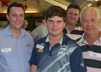 NQ Dry Tropics Project Officer Brad Holt with (from left): Nick Cvjetanovic, his father Ray and grandfather Mick Torrisi.