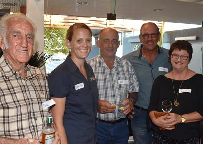 NQ Dry Tropics Project Officer Shakira Todd with (from left) Joe Rigano, Phil Cardillo, and Sibby and Aileen Previtera.