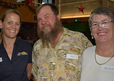 NQ Dry Tropics Project Officer Shakira Todd with Ian and Helen Becke.