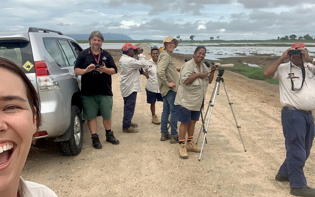 Workshop helps Gudjuda Rangers improve bird ID and monitoring skills